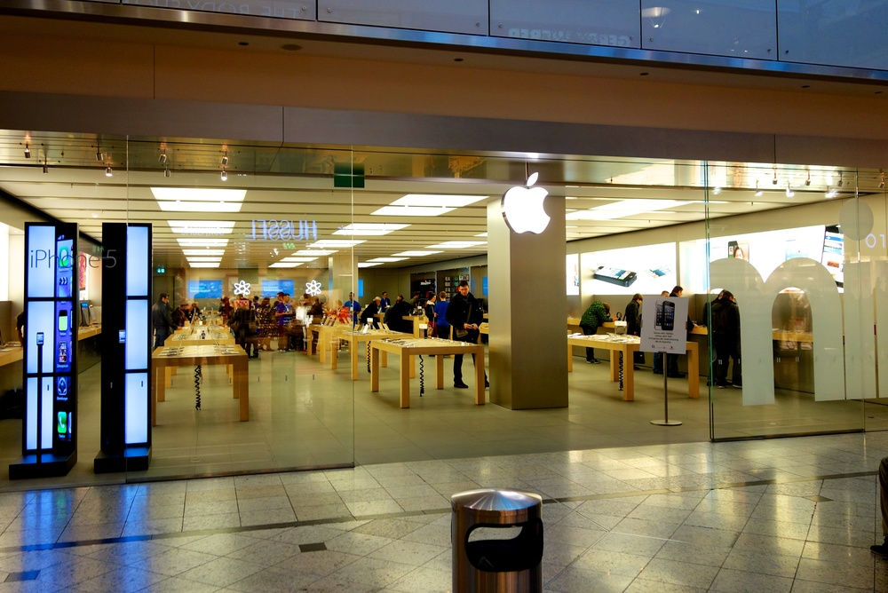 Augsburg is a relatively small city yet has a large mall-style Apple Store. There are nine others in Germany, but none yet in the capital, Berlin.
