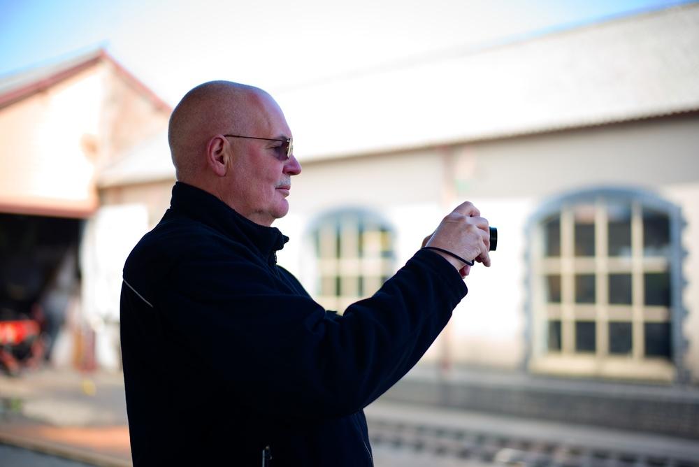 Ralf filming Norton Manor on its way to head the return train. See Ralf