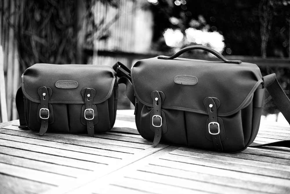The Hadley Small (left) holds 3.5 litres of stuff while the Hadley Pro (right) takes 6 litres. The smaller bag is in traditional canvas while the Pro on the right is constructed from synthetic FibreNyte. Both have a waterproof membrane bonded to the material