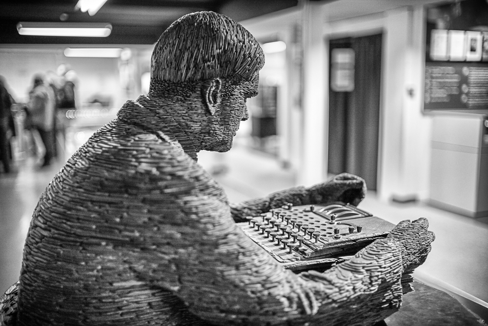 Alan Turing in slate