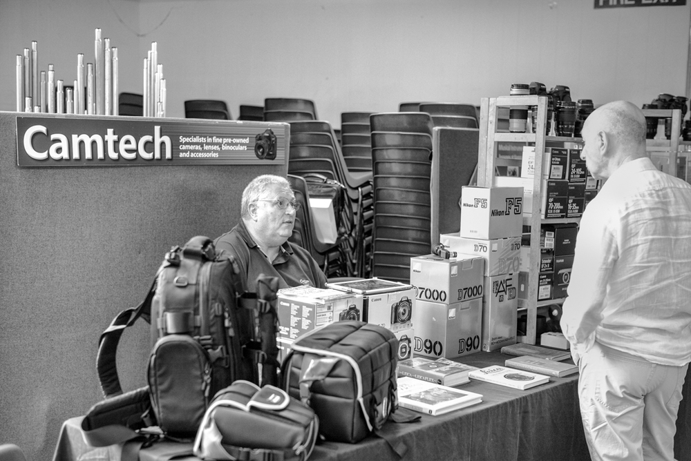A nice collection of used Leica gear among the Nikons and Canons from well-known dealers Camtech. Behind the counter is Camtech