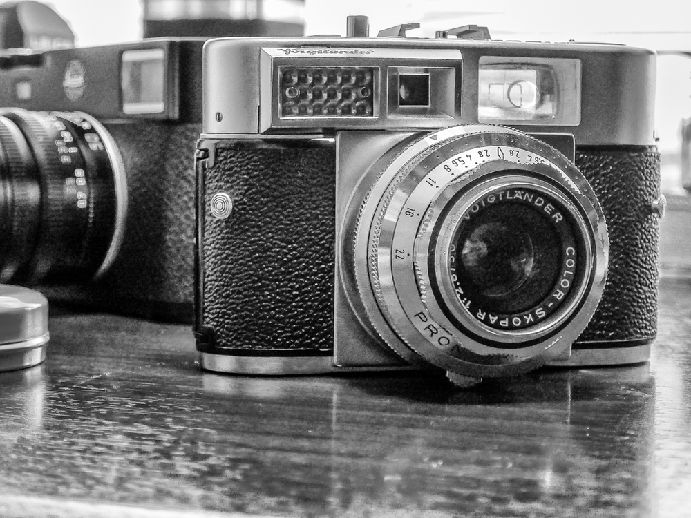 The Voigländer Vitomatic II from around 1958. It is really small but weighs a ton (or 770g to be precise) in a testament to the brick outhouse build quality. With a good rangefinder, bright viewfinder and coupled light meter, this is still a very viable film camera and I am looking forward to my first results