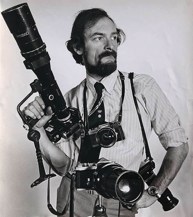 Don equipped for battle at the 1972 Munich Olympics. He was the press man who managed to get into the Athlete