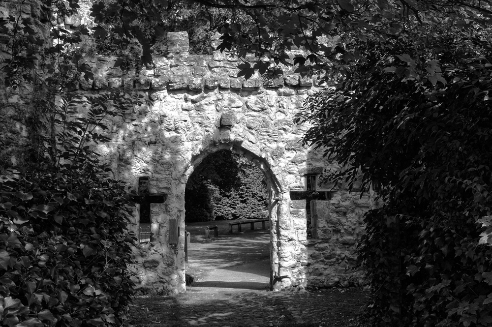 A touch of faux gothic in the park, Monochrom and Tri-Elmar by Mike Evans