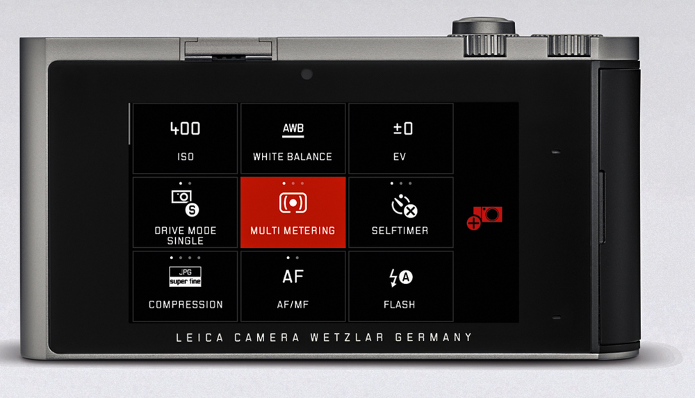 The My Camera or home screen is the central control centre for the T. You can choose nine (or more if you wish) favourite functions. In effect, you design the camera back yourself. All functions are clearly labelled to avoid confusion