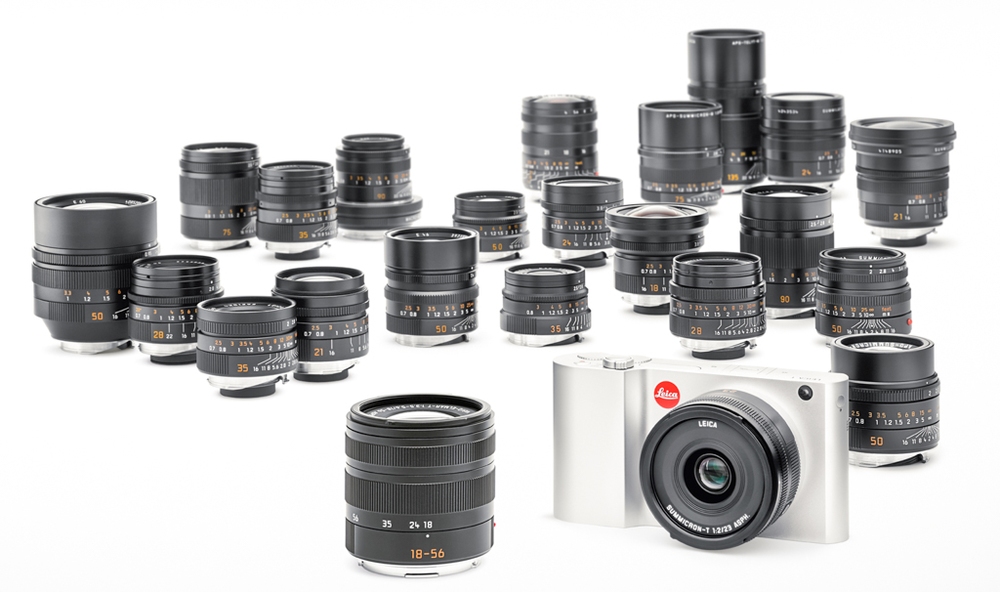 With modern Leica M lenses, to take advantage of the six-bit coding, the T has already has access to a lens for every occasion. Note the fabled 0.95 Noctilux not he extreme left and its sharper but slower competitor, the 50mm Apo Summicron on the far right).  If older legacy M lenses are added, the choice is phenomenal. The T works better with M lenses than other APS-C cameras or the full-frame Sony A7 and produces exceptional photographs