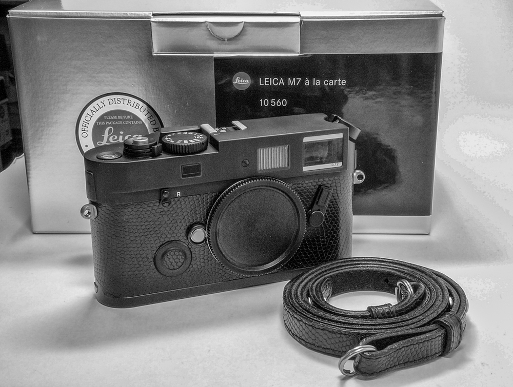 The Leica M7, although technically the epitome of film Leicas is less popular than some earlier models, in particular the M7. The M7 is identical in size and operation to the latest M10 digital, by the way.