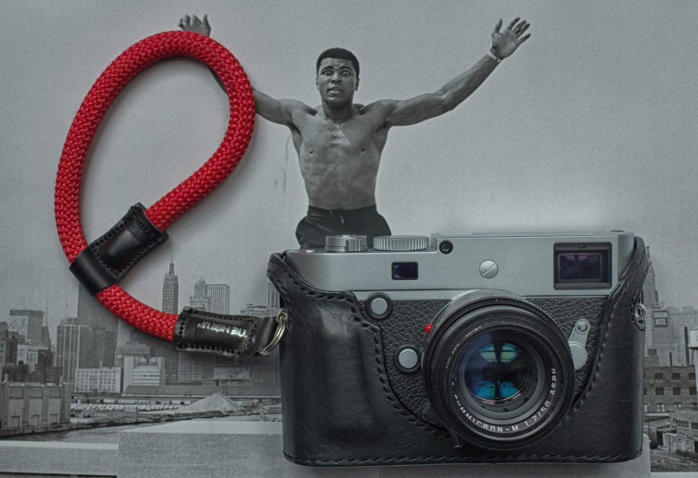 The wrist strap looks good on this Leica M-P and 50 Apo with one of SejunKim