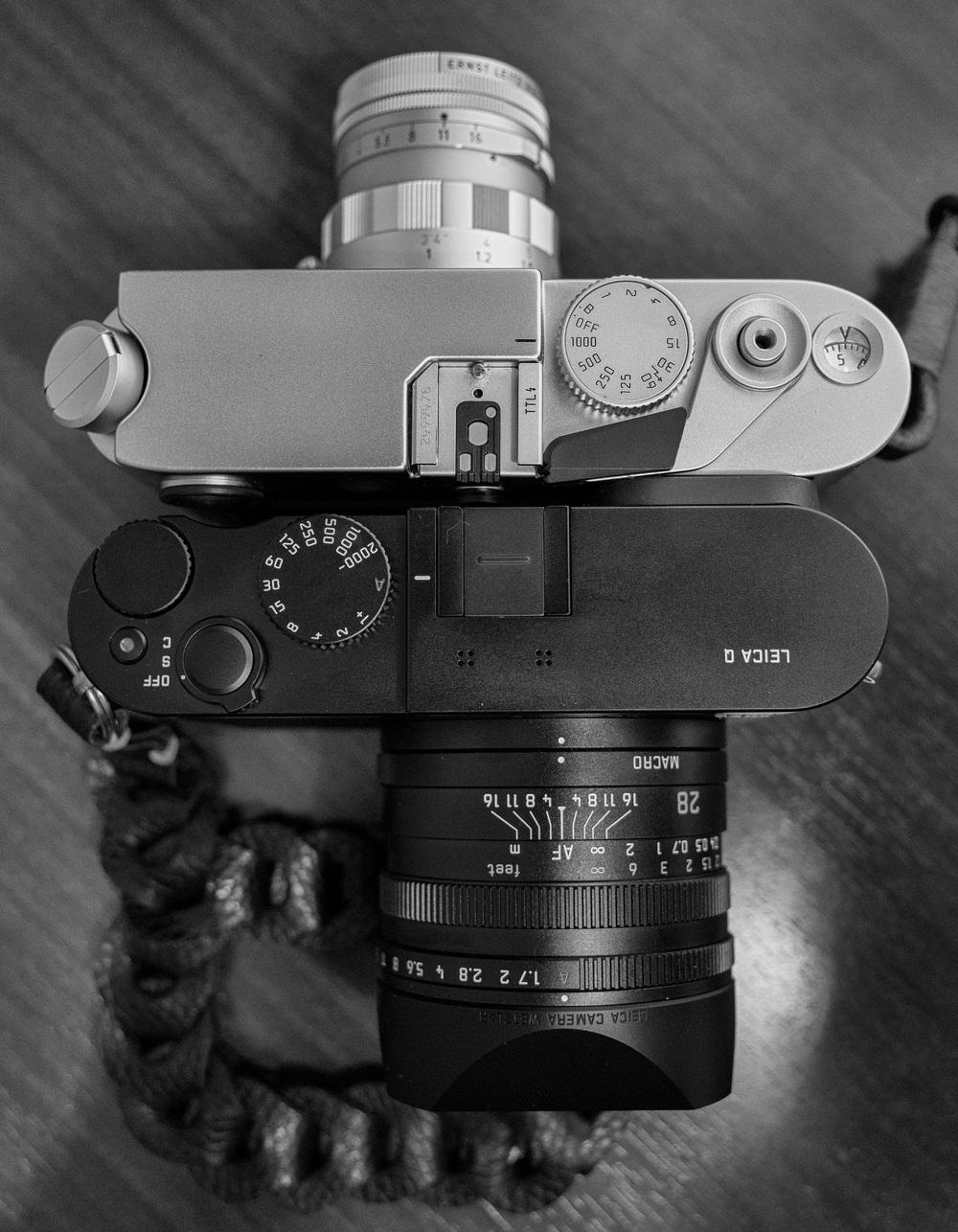 Q sizes up a Leica M6 TTL and rigid 50mm Summicron