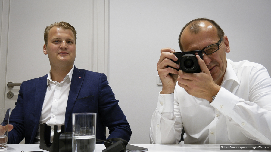 Vincent Laine and Peter Kruchewski with the Leica Q (Image: DigitalVersus)