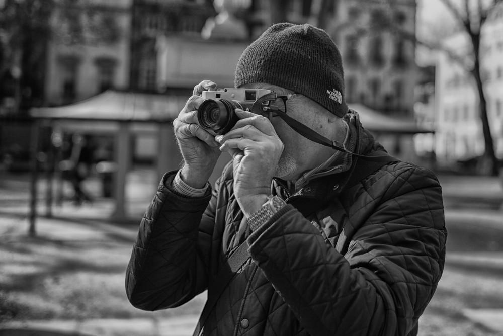Leica M-P seen through the 35mm Summilux lens of the M60.Photo:  George James .