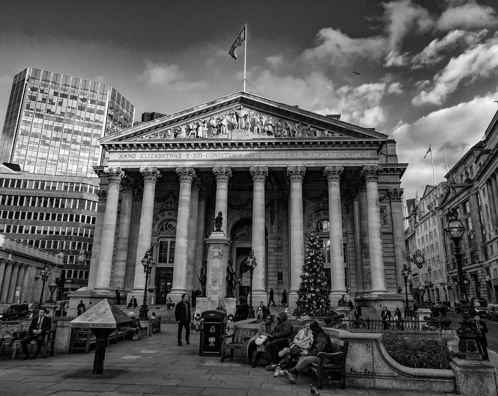 The Royal Exchange photographed in the 63rd year of the reign of Elizabeth II by Mike Evans with Leica