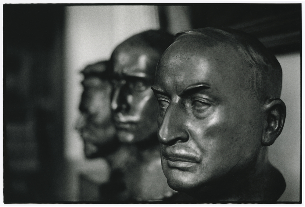Busts of Ernst Leitz II, III and I (right to left). Photo Frank Dabba Smith