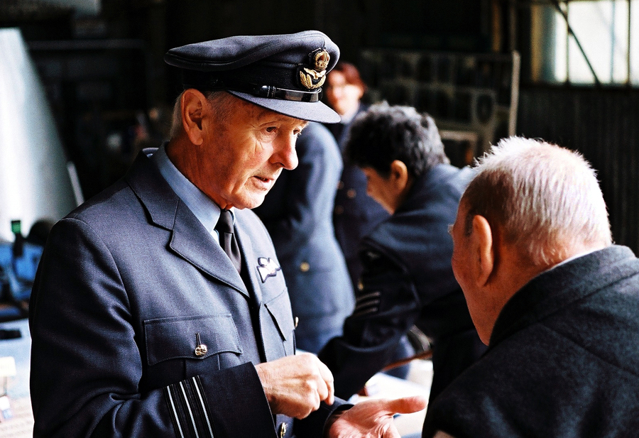 RAF officer at Brooklands, MP4