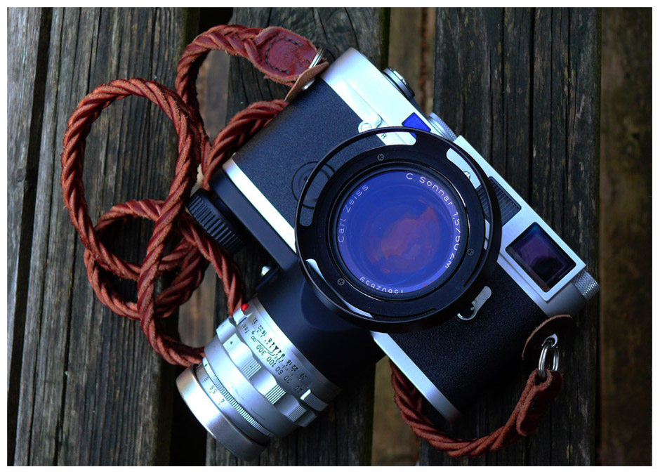 MP4 with Carl Zeiss f/1.5 Sonnar, braided strap and lens keeper