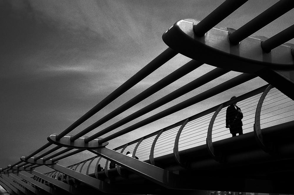 Millennium Bridge through the lens of the Ricoh GR (all photographs by Bill Palmer)