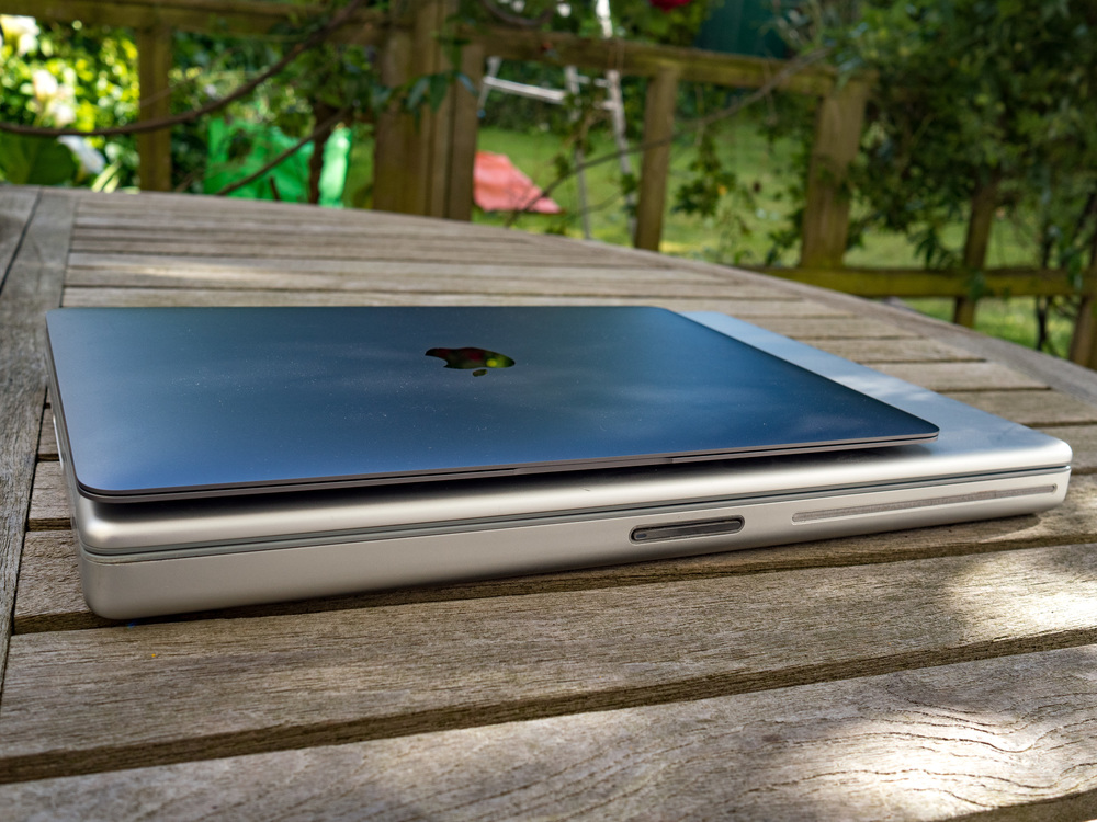 Ten years is a long time in computing: Compare the 2015 MacBook with the 2005 PowerBook. Weight Watchers would be proud.