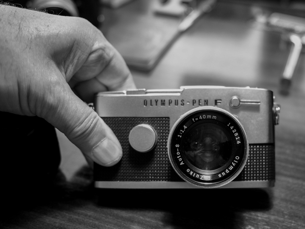 The compact Pen F (this is the FT, 1966 vintage) was a perfect little travel companion in its day. With excellent lenses to choose from, small size and easy to operate, the PEN was blessed by some excellent optics such as this fast f/1.4 35mm prime. It is the direct ancestor of today