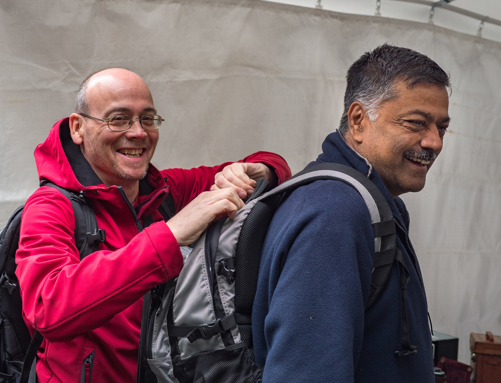 David Woodford and Mahendra Modi of British retailers MW Classic Cameras spending the money and stashing the goodies. Since 1987 the pair have been travelling throughout Europe in search of classic photographic equipment