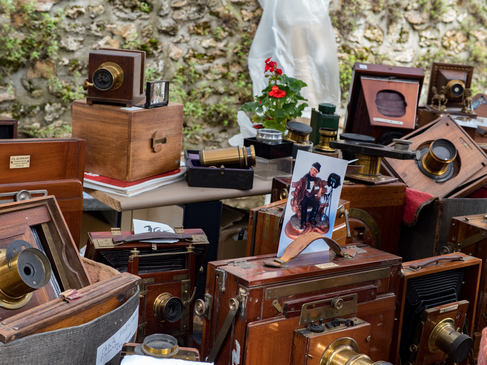 Biévres is a magnet for collectors of 19th and early 20th century wooden photographic gear