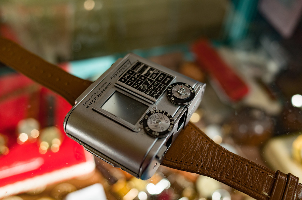 The Tessina is a twin-lens reflex 35mm film camera that can be worn on the wrist. The smallest of its type ever made, it was used for clandestine activities from the Berlin Wall to Watergate