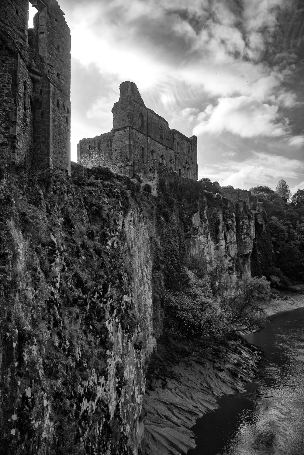 Chepstow Castle on a beautiful bend of the River Wye, brooding over England on the opposite bank.
