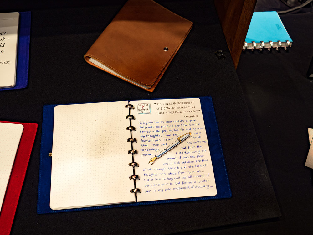 Write, write, write. The secret of getting back your penmanship is to practice. Choose a good notebook. This is the luxurious British-made  William Hannah system , but much cheaper bound books will do the trick.