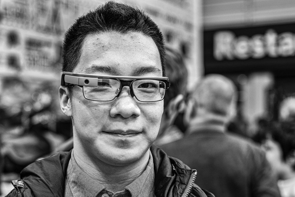 Google was first with its corporate toe in the water with Google Glass, snapped here in 2014 by Mike Evans at the Birmingham photographic show, but the idea is far from dead.