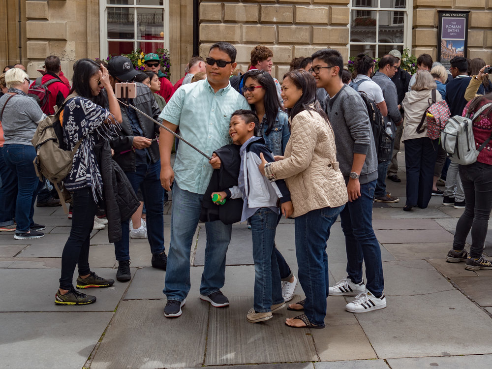 With an iPhone on your selfie stick you feel part of a big, warm family, even if Apple