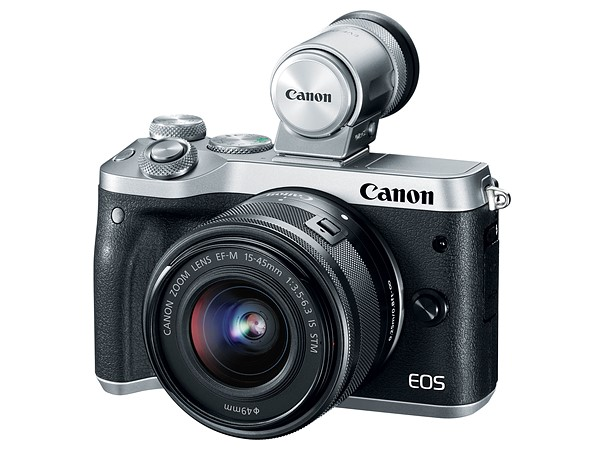 The new Canon EOS M6 is based on the DSLR-style EOS M5 but has attractive rangefinder looks which are complemented by that viewfinder. I