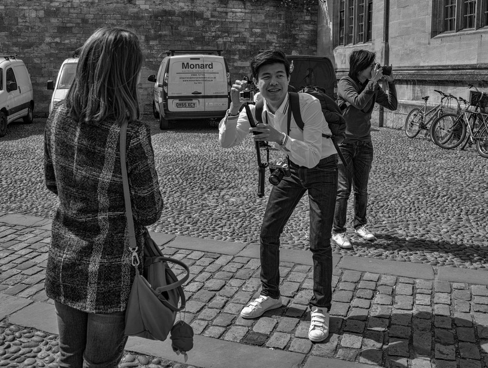 Happy snappers: Tri-Elmar at 28mm, Leica M-D.