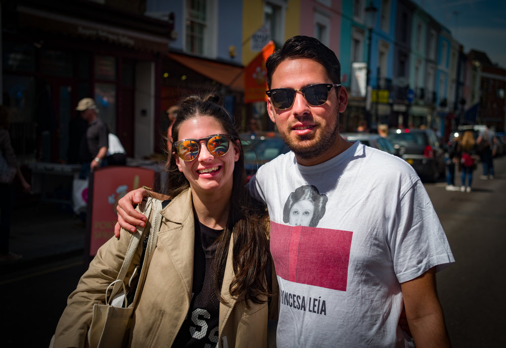 Shopping in Portobello Road: Tri-Elmar at 50mm, Leica M-D