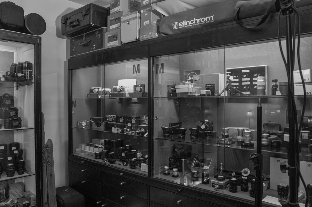 At a dealer near you.... Looking for bargains among all the second-hand camera gear. This Leica M display is at Aperture Photographic in Rathbone Place, London