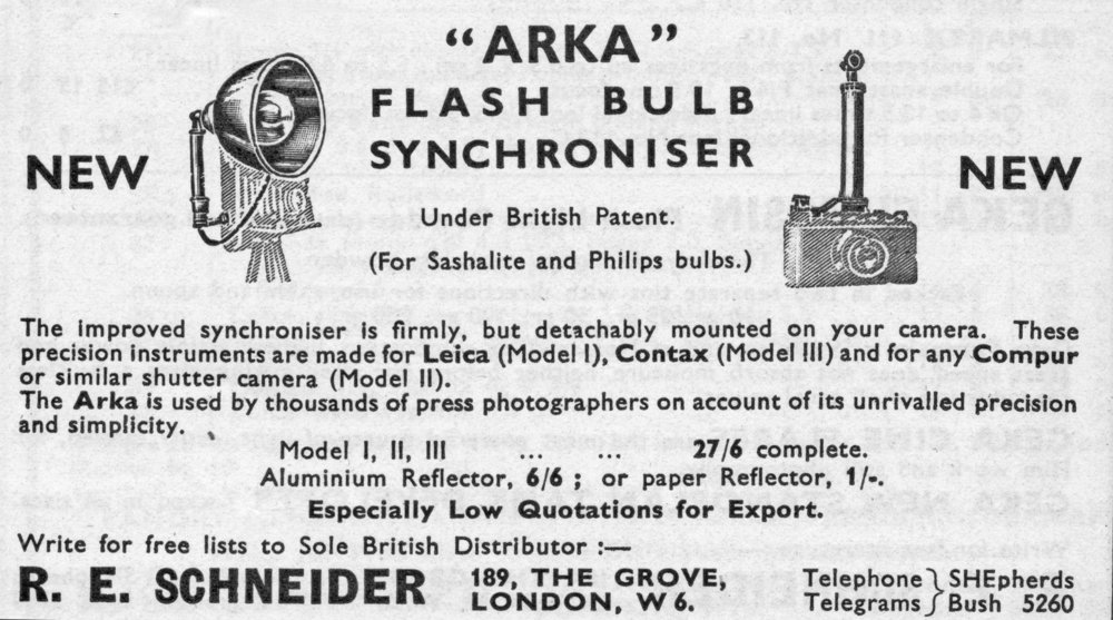 Above: [Fig.8] ARKA flash bulb synchroniser introduced 1933. Below [Fig.9] Kalart flash bulb synchroniser also introduced about 1933.