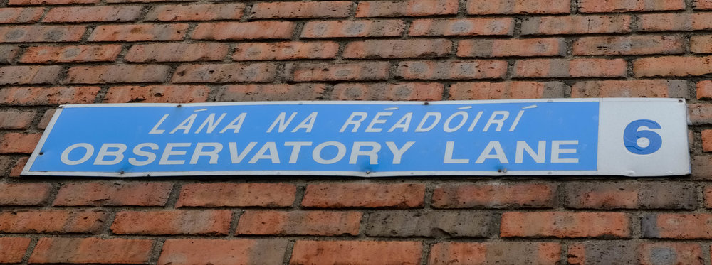 Observatory Lane street sign by William Fagan