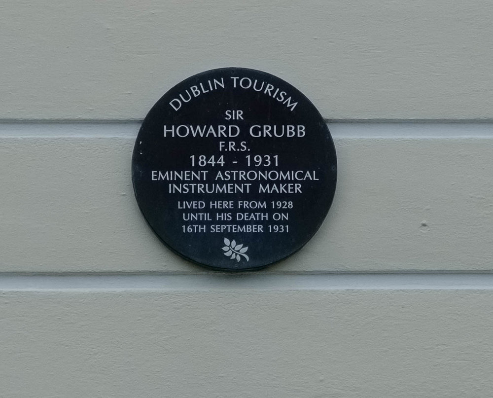 Sir Howard Grubb plaque Monkstown by William Fagan