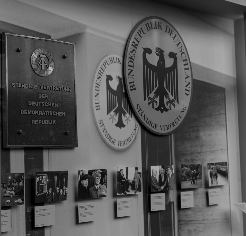 Permanent representatives — on the left, the nameplate on the East German