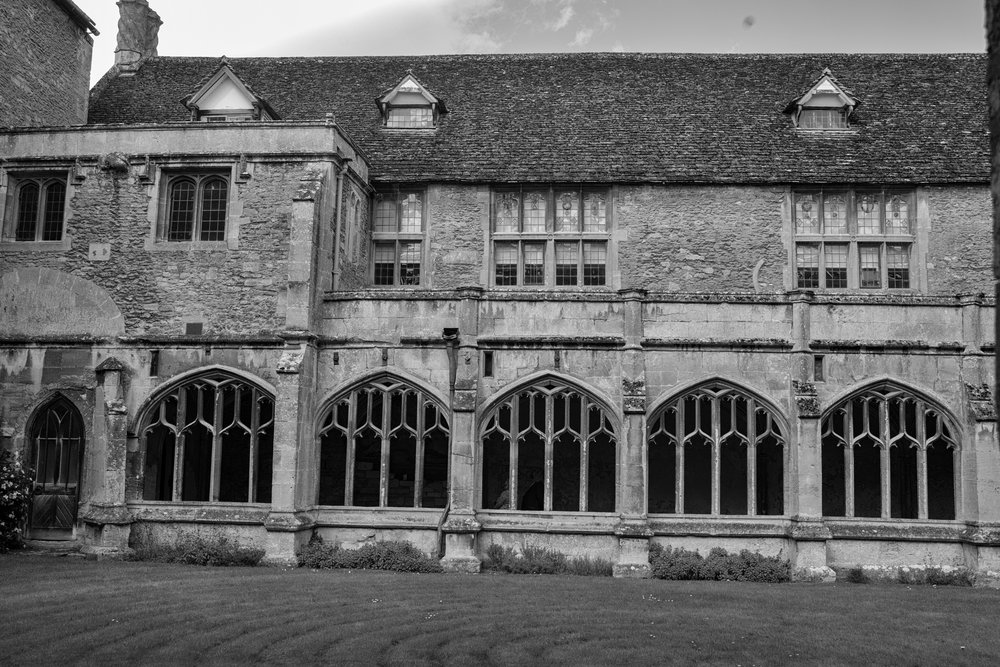 The original 13th-century abbey cloister with William Sharington