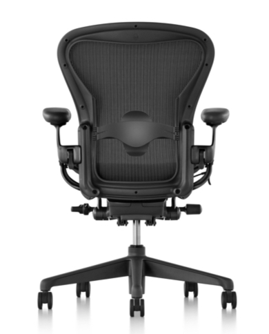 Just like mine.... The black-finish Aero. Note the central lumbar support which fits behind the mesh of the chair back