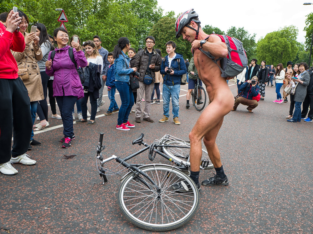 Beihai Park or Hyde Park?Guess. The Q was a nifty performer at the Naked Bike Ride in 2015