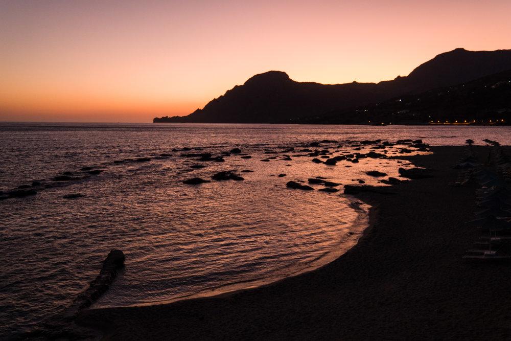 Plakias Sunset, 18-56mm Vario-Elmar at ISO 800
