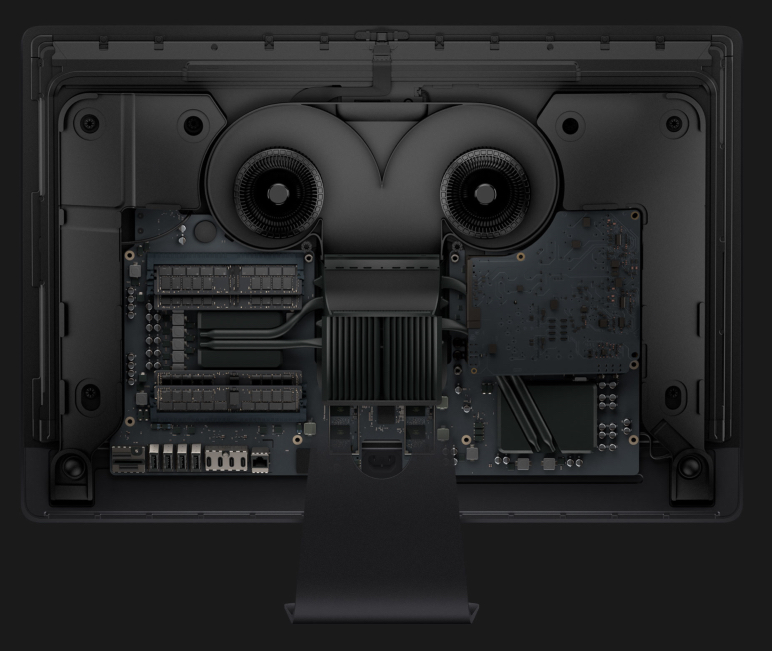 Blistering performance built in. But the expensive iMac Pro cannot be upgraded. You must decide on the specification the day you order. No second thoughts