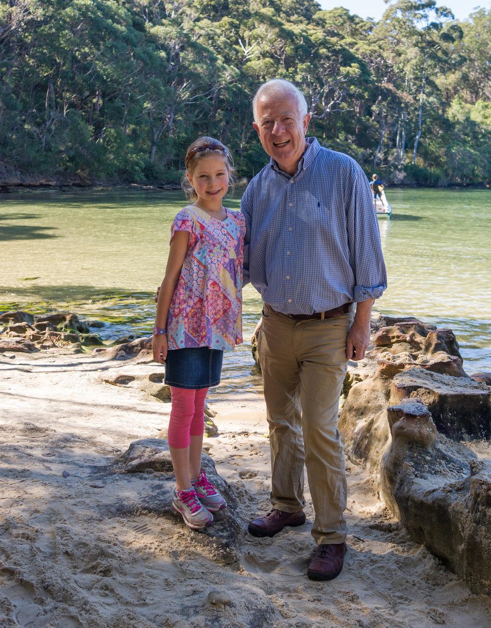 John and granddaughter in sunny Terrigal