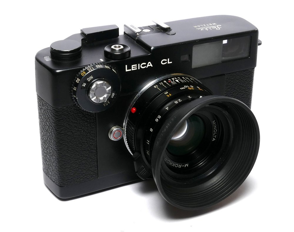 Leica CL with 40mm Minolta M-Rokkor f/2 (Image Red Dot Cameras)