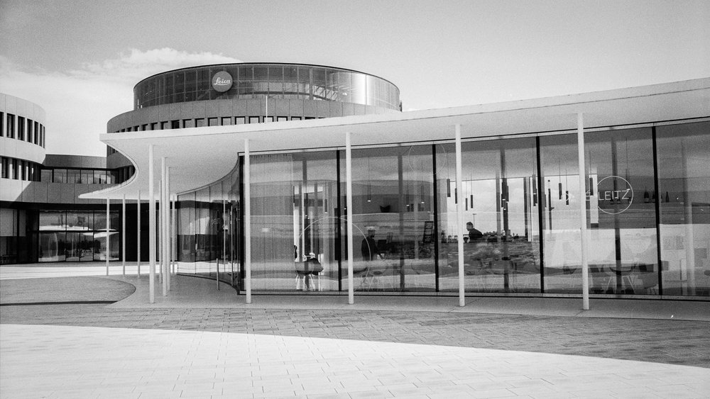 The Café Leitz. Leica M6 TTL with 35mm Summilux, Kodak Tri-X 400, orange filter