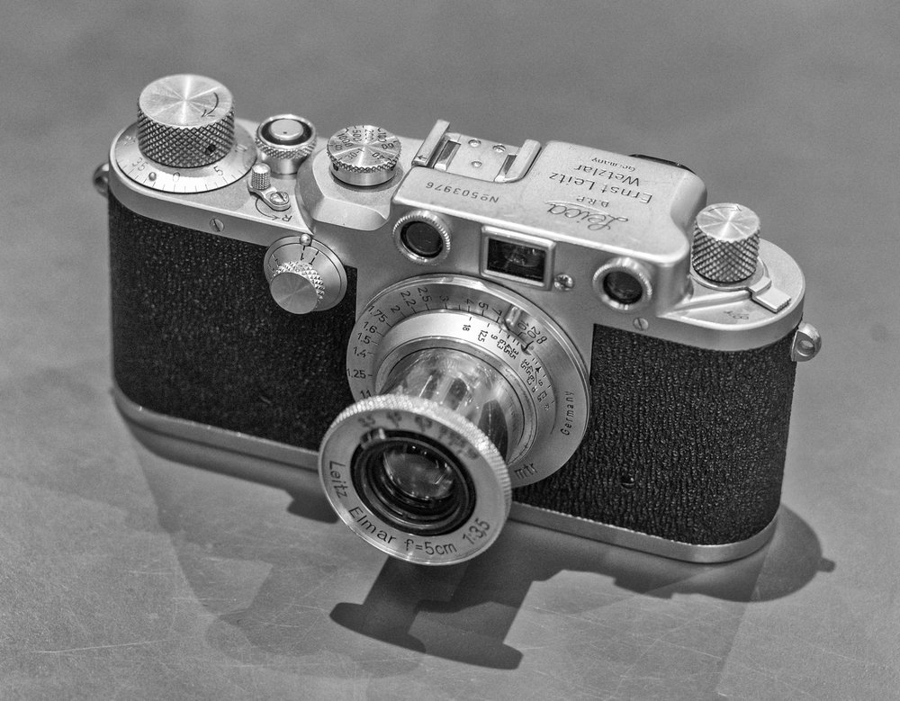 At the time of the inspection the Leica IIIc was replacing the IIIb which has been introduced before the war in 1936. Eagle-eyed readers armed with a copy of the   Leica Pocket Book   will see that his particular example was manufactured in 1950, around the time the IIIf came along and one year before production ceased. But to all intents and purposes, this is identical to the camera the inspection team would have held in their hands (Photo by Mike Evans, Leica IIIc loaned by   Red Dot Cameras   who currently have several examples in stock if you fancy a perfectly usable film camera with a whiff of nostalgia)