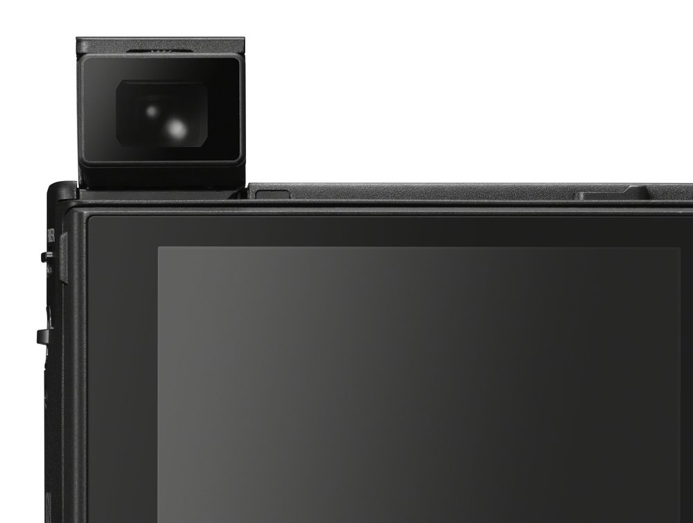 The pop-up finder on the Mk VI has one-touch actuation. The screen now allows touch control and shutter release
