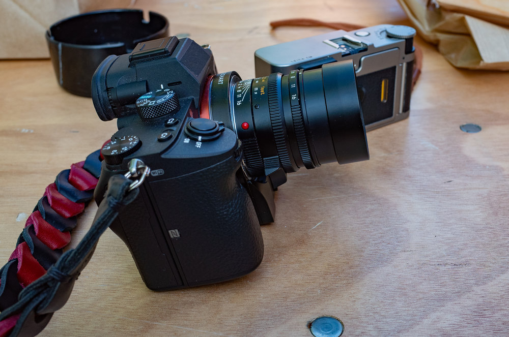 The Techart adapter has a small motor pod at the bottom. In the case of the a7III this protrudes. It isn