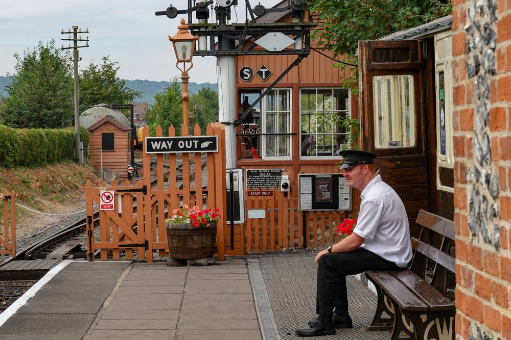 Way in, way out: Life runs at a sedate pace at Chinnor station