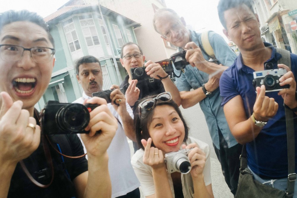 Eric Kim, far left with the big smile and the Leica CL during his Singapore workshop. As always, he is the life and soul of the event and manages to make everyone feel welcome. If you don